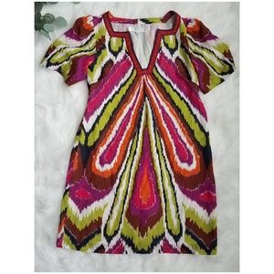 TRINA TURK Retro Silk Tunic Dress 6